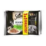 SHEBA DELICACY IN JELLY MIX SMAKÓW 4x 85g 1+1 GRATIS