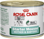 ROYAL WET. CANIN MINI STARTER MOUSSE 195g