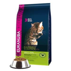 EUKANUBA CAT HAIRBALL CONTROLL CHICKEN 400G
