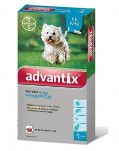 BAYER ADVANTIX SPOT-ON 1,0ml DLA PSA 4-10kg