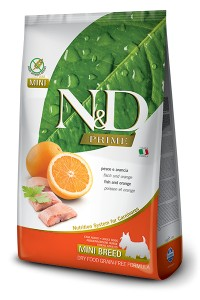 N&D PRIME FISH & ORANGE ADULT MINI 800g