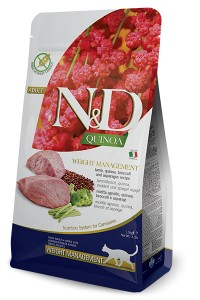 N&D QUINOA WEIGHT MANAGEMENT LAMB CAT 300g