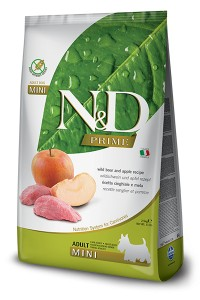 N&D PRIME BOAR & APPLE ADULT MINI 2,5kg