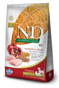 N&D LOW GRAIN CHICKEN & POMEGRAN LIGHT MINI & MEDIUM 800g