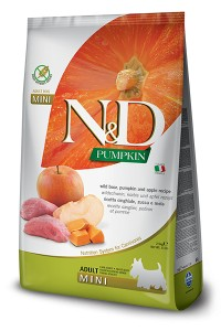N&D PUMPKIN BOAR & APPLE ADULT MINI 2,5kg