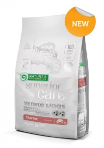 NATURES PROTECTION SUPERIOR CARE WHITE DOGS STARTER 1,5kg