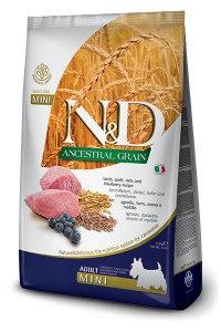 N&D LOW GRAIN LAMB & BLUEBERRY ADULT MINI 800g
