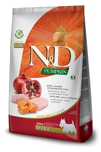 N&D GRAIN FREE PUMPKIN CHICKEN & POMEGRANATE ADULT MINI 800g