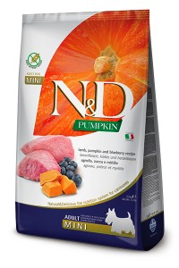 N&D GRAIN FREE PUMPKIN LAMB & BLUEBERRY ADULT MINI 2,5kg