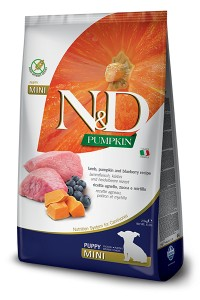 N&D GRAIN FREE PUMPKIN LAMB & BLUEBERRY PUPPY MINI 2,5kg