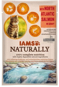 IAMS NATURALLY SENIOR ŁOSOŚ SOS 85g